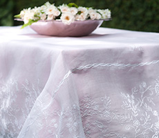 Embroidered Handmade Tablecloth Organdi